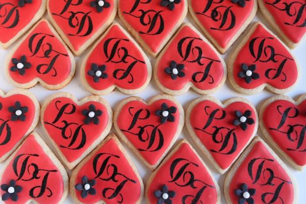 Heart Shaped Monogram Cookies