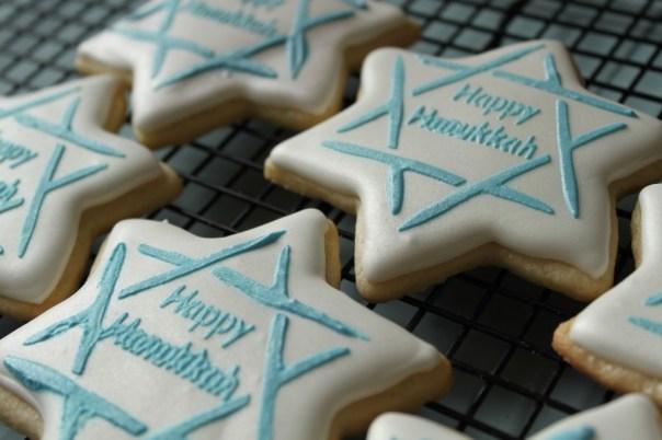 Chanukah Star Stencil Cookies