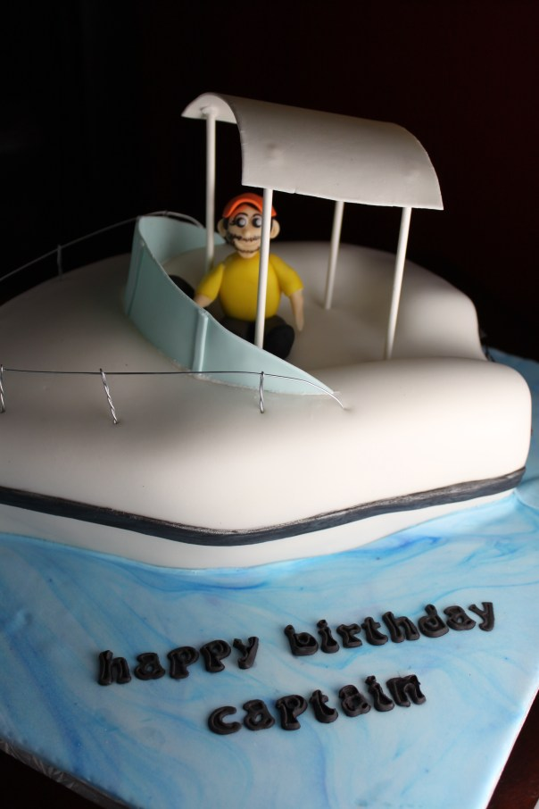 Excellent Fishing Boat Cake Lil Miss Cakes Birthday Cards Printable Trancafe Filternl