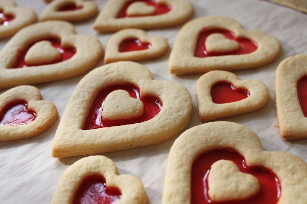 Heart Shaped Stained Glass Cookies