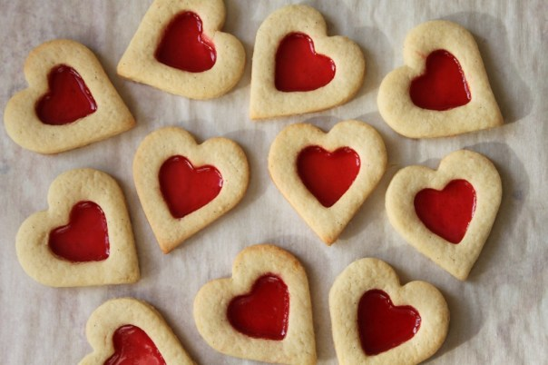 Stained Glass Heart Cookies