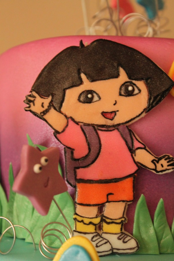 Dora made out of fondant