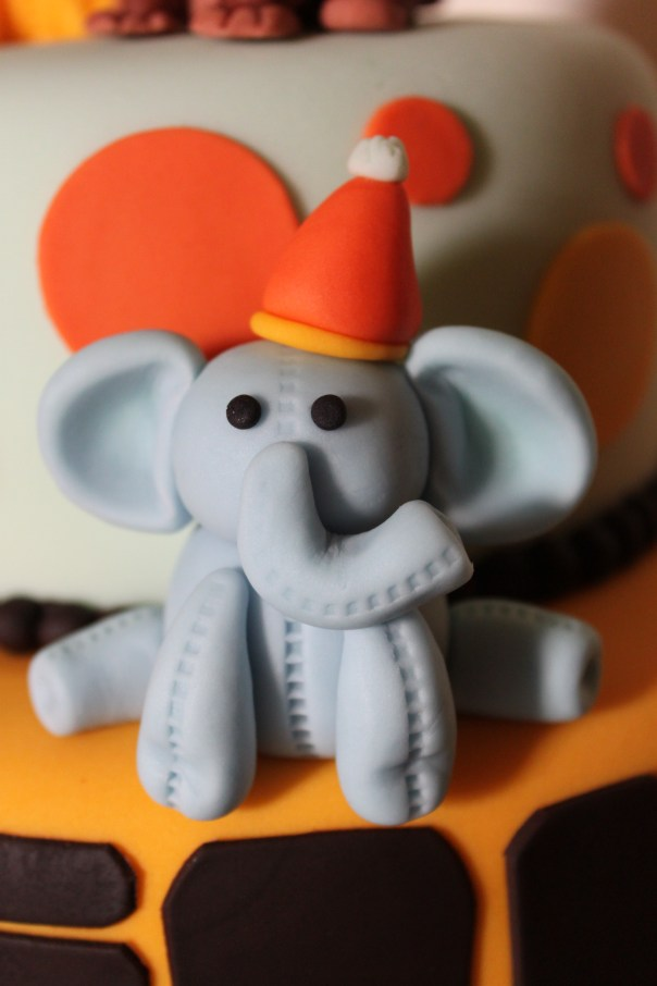 birthday elephant molded out of fondant
