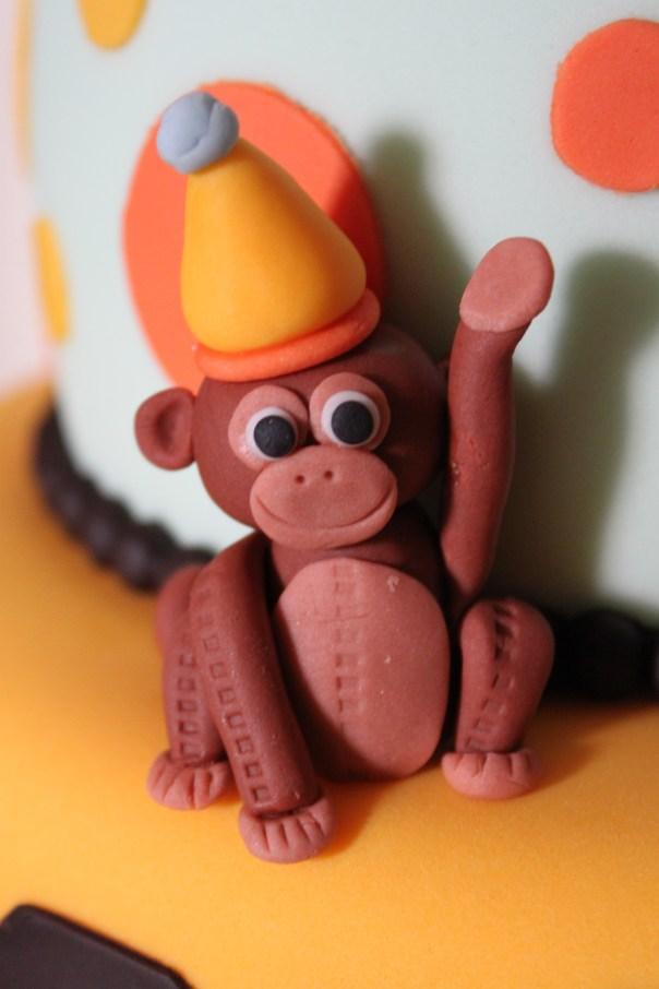 Fondant Birthday Monkey