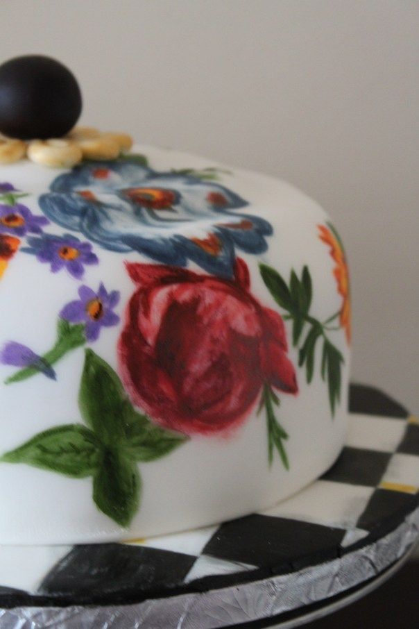 Hand Painted Cake Plate