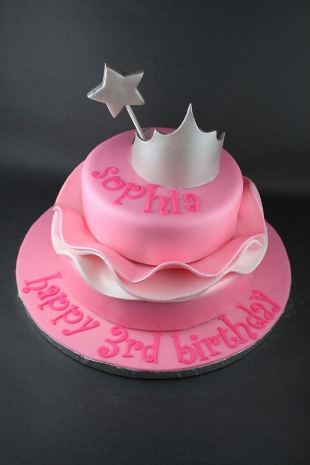 Pink Princess Ruffle Cake