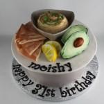 Hummus Platter Cake