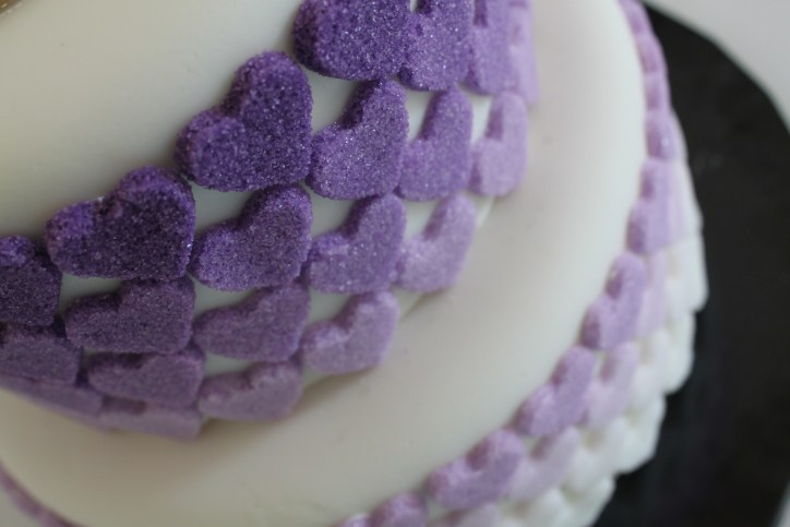 Purple Sugar Hearts
