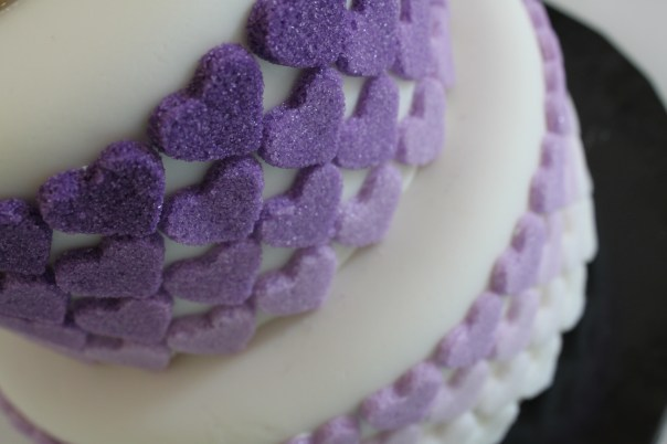 Purple Sugar Hearts