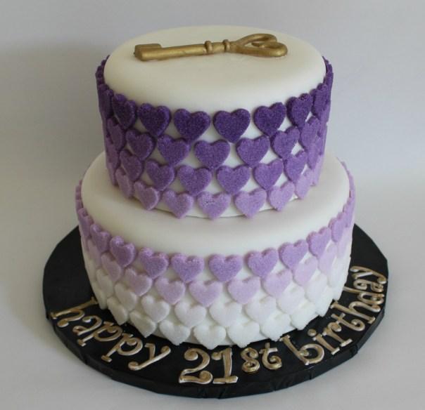 Purple Ombre Sugar Hearts