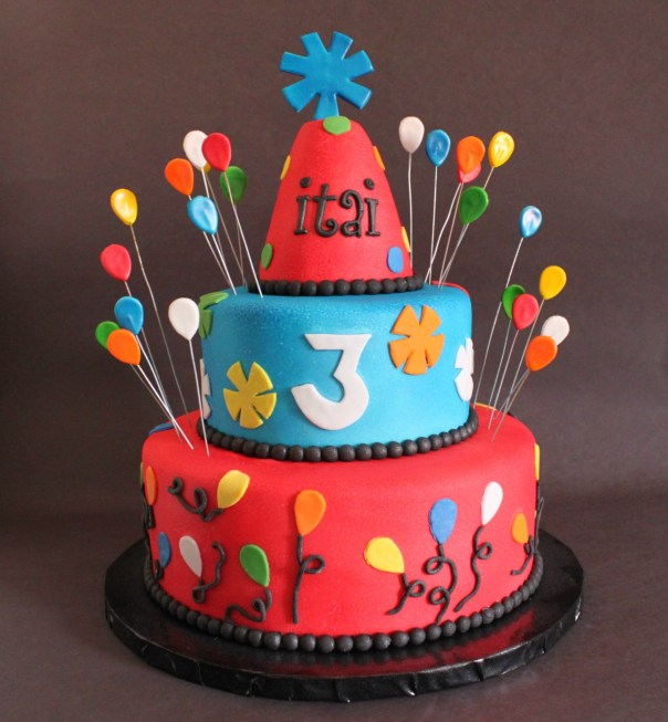 Party Hat Birthday Cake