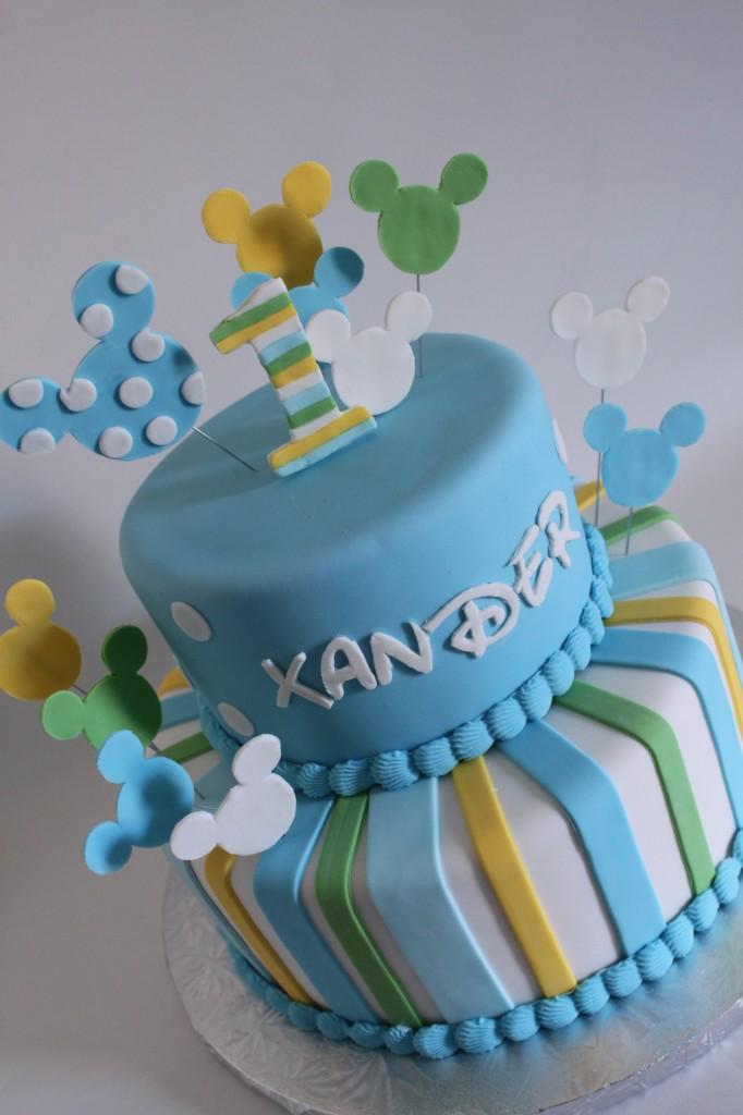 Baby Micky Birthday Cake