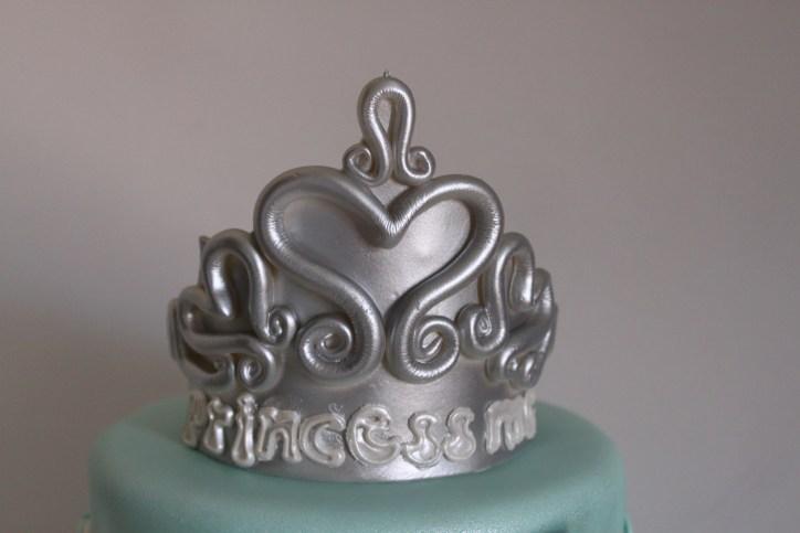 Silver Gumpaste Tiara