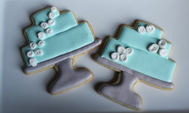 Wedding Cake Cookies on Stands