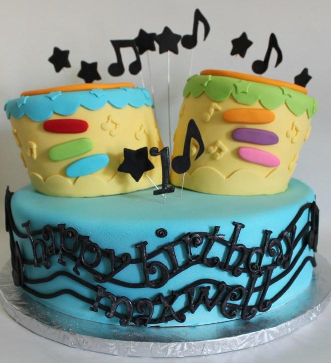 Toy Drum Birthday Cake