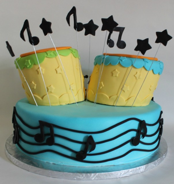 Fondant Musical Notes
