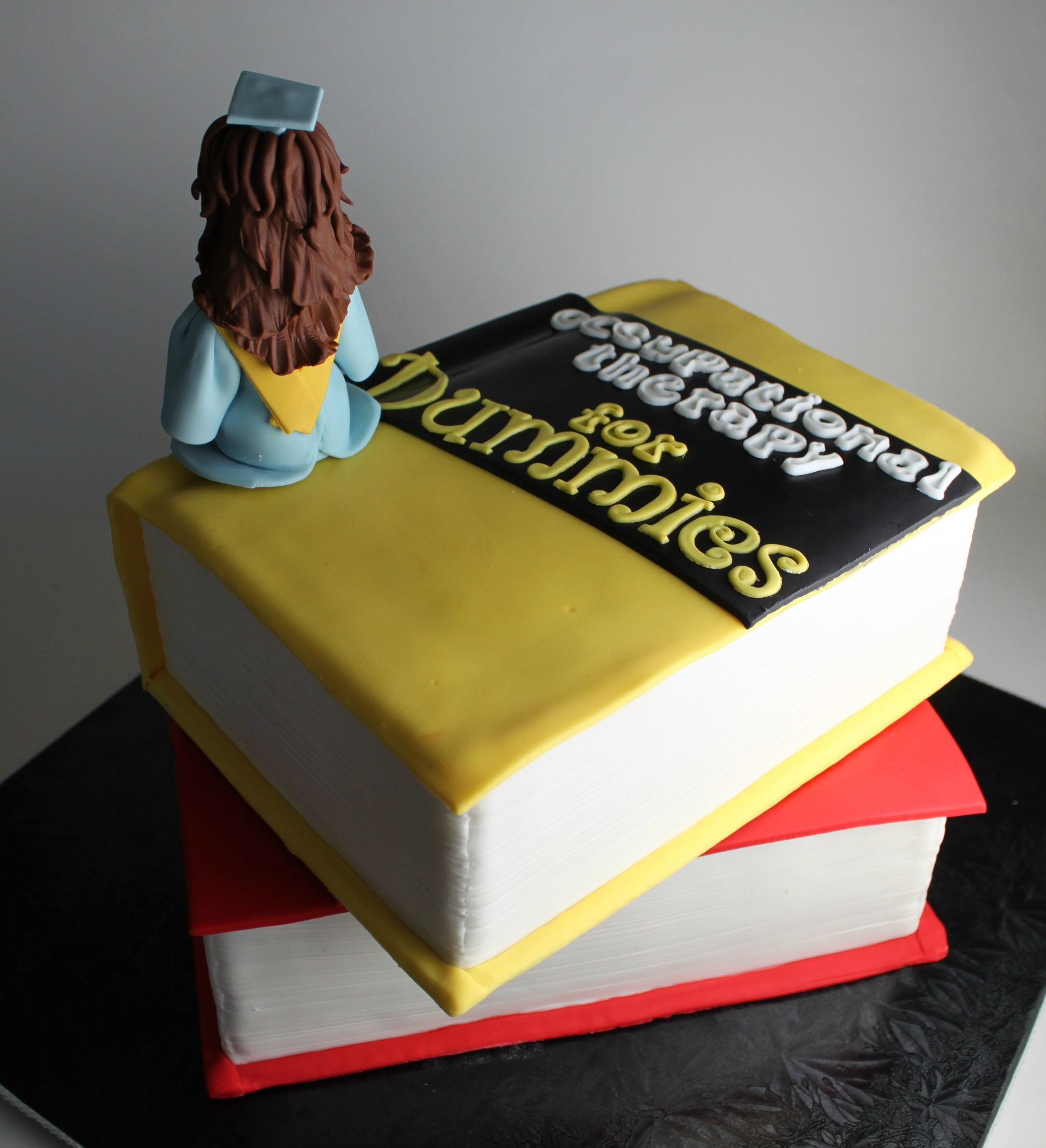 Stacked Book Graduation Cake Lil  Miss Cakes