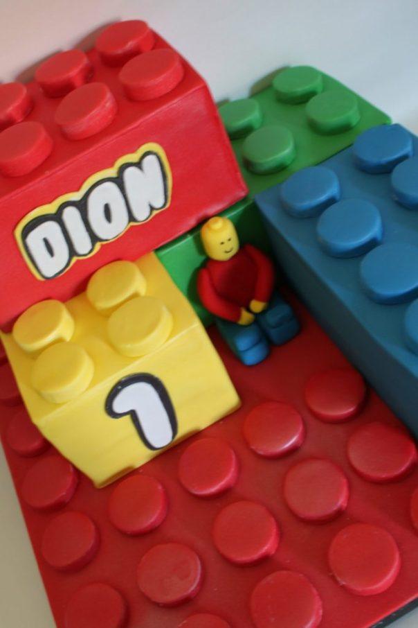 Fondant Lego Birthday Cake