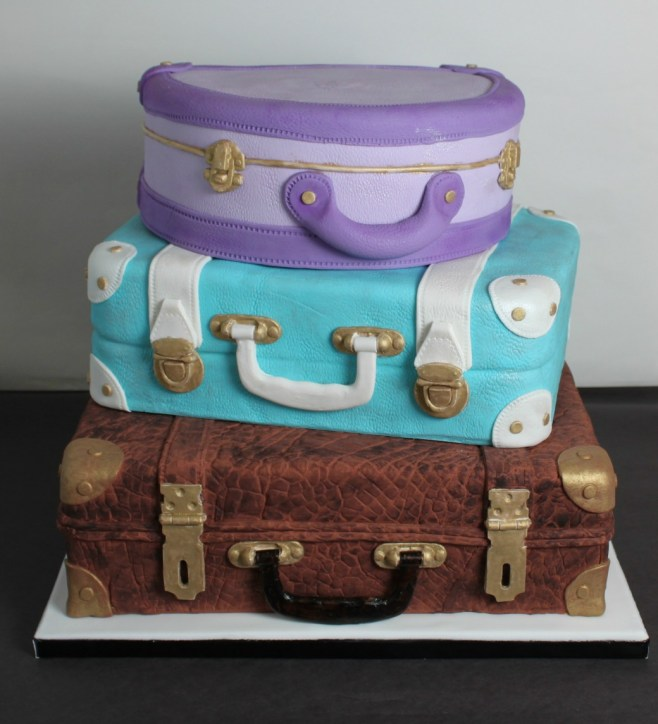 Stacked Suitcase Wedding Cake