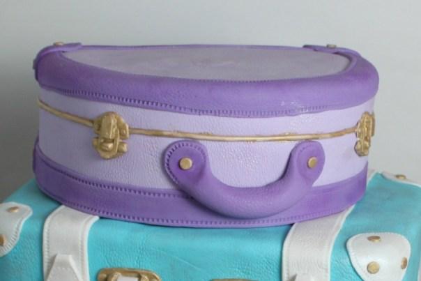Purple Fondant Suitcase
