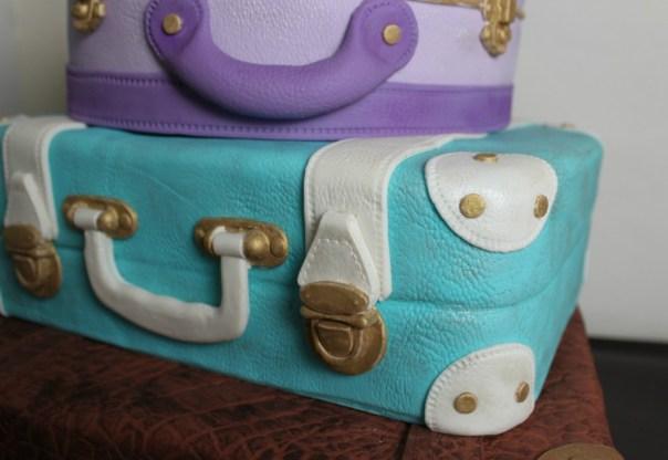 Leather Suitcase Cake
