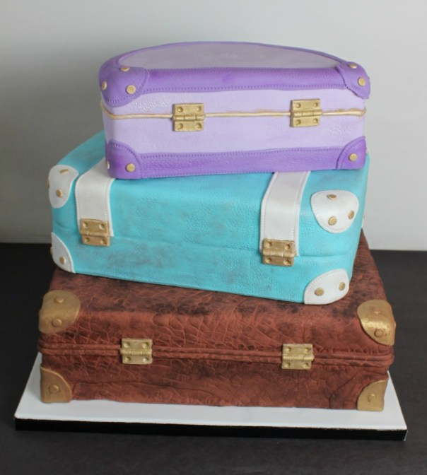 Back of Stacked Luggage Cake