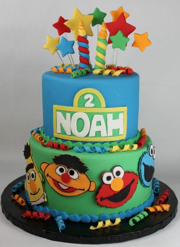 Sesame Street Second Birthday Cake