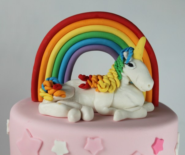Rainbow Unicorn Cake Topper