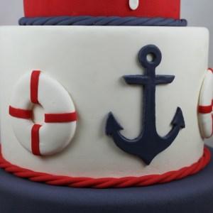 Fondant Nautical Anchor and Life Ring