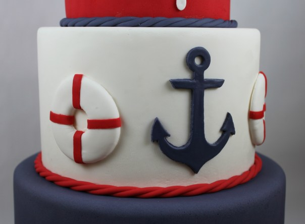 Fondant Nautical Anchor and Life Ring