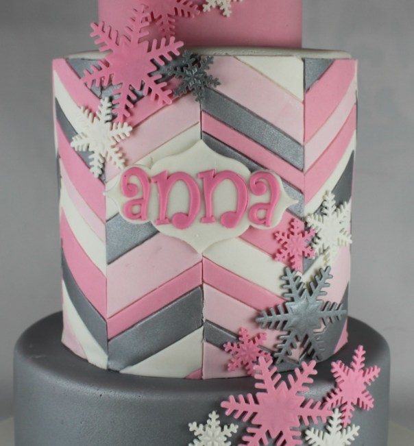 Offset Chevron Cake Tier