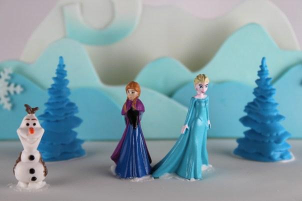 Olaf, Anna, and Elsa