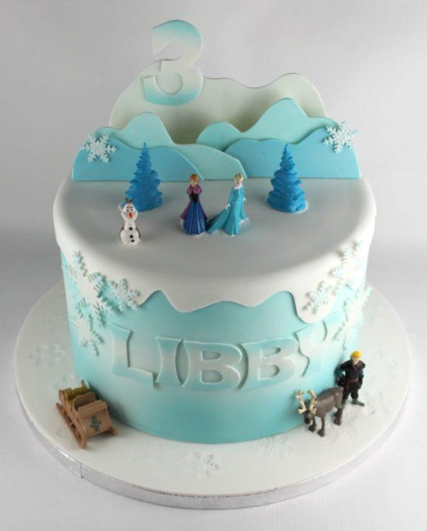 Frozen Cake Mountain Backdrop