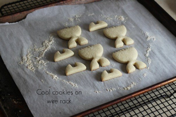 Cool baked cookies on wire rack