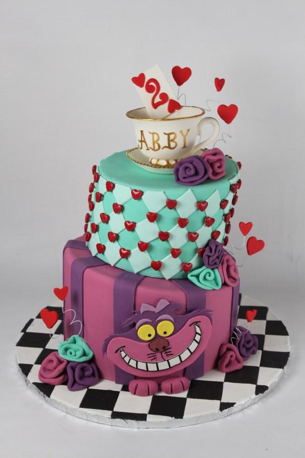 Topsy Turvy Alice in Wonderland Cake