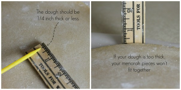 Measuring your rolled out dough