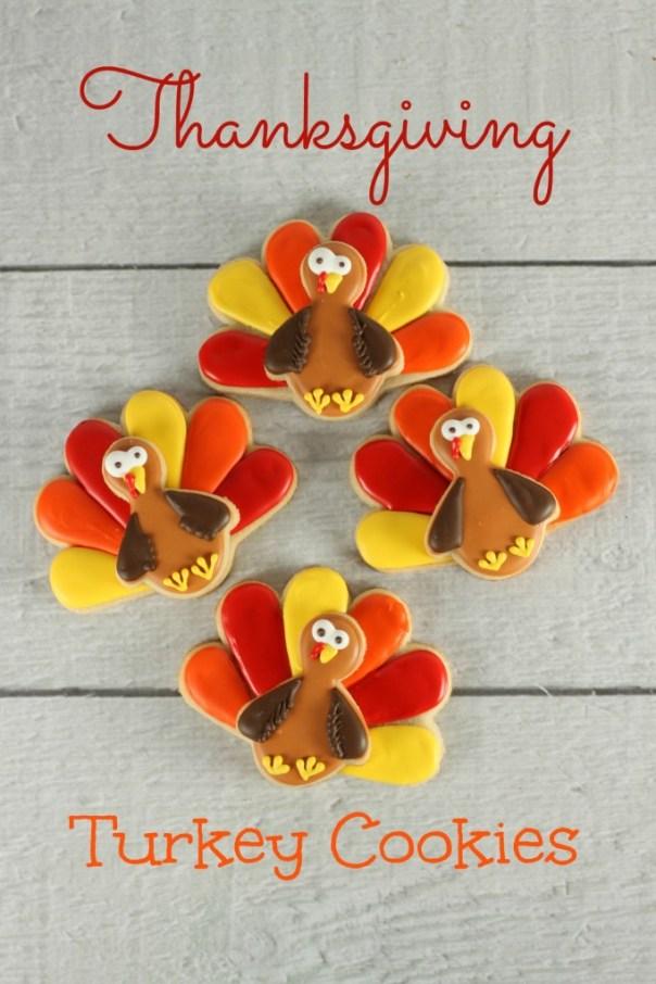 Thanksgiving Turkey Sugar Cookies   Lil Miss Cakes
