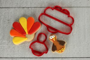 Turkey and Feather Cookies