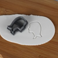 Long Hair Lady Silhouette Cutter | Lil Miss Cakes