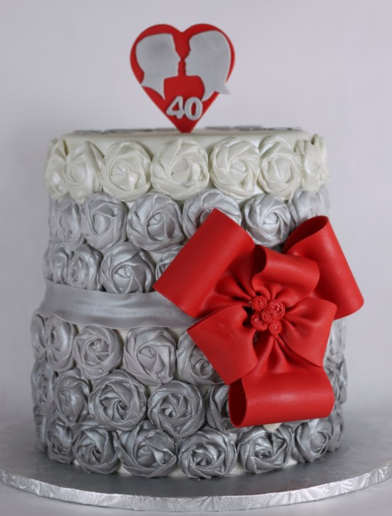 Fondant Rose Cake   Lil Miss Cakes