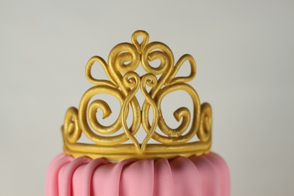 Gold Fondant Tiara | Lil Miss Cakes