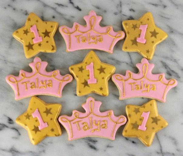 Tiara and Star Sugar Cookies    Lil Miss Cakes