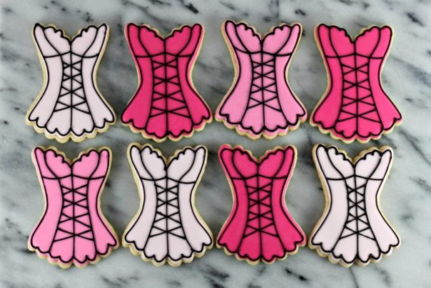Lingerie Corset Cookies | Lil Miss Cakes