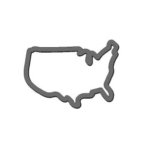 USA America Map Cutter | Lil Miss Cakes