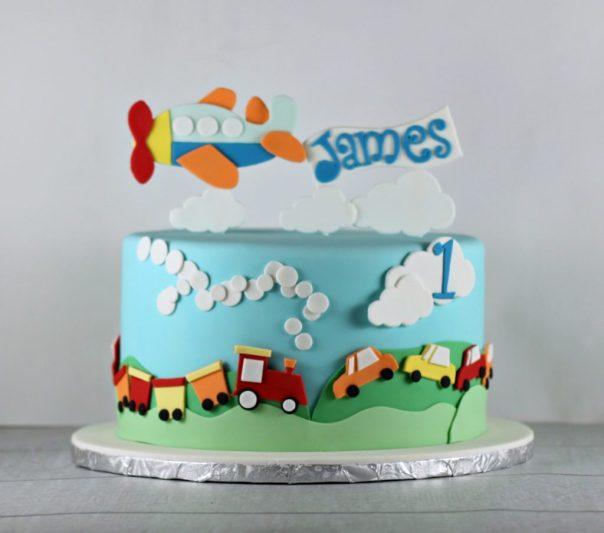 Planes Trains Automobiles Cake | Lil Miss Cakes