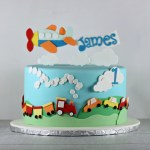 Planes Trains Automobiles Cake | Lil Miss Cakes