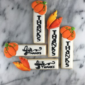 Thanksgiving Place Card Cookies   Lil Miss Cakes