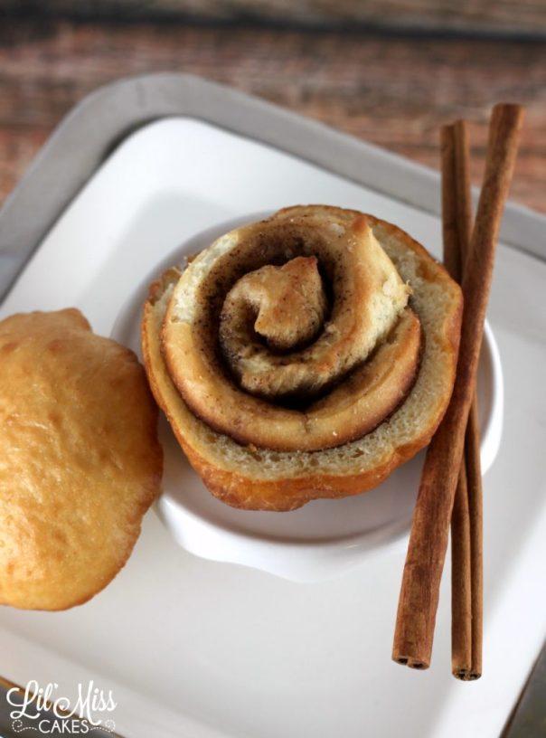 Cinnamon Bun Donut | Lil Miss Cakes