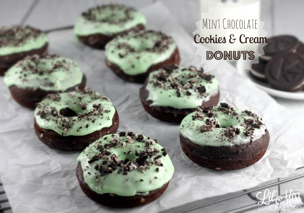 Mint Chocolate Cookies and Cream Donuts | Lil Miss Cakes