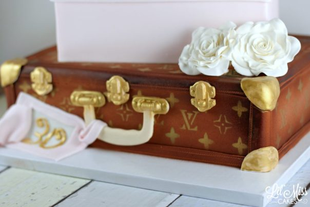 Louis Vuitton Suitcase | Lil Miss Cakes